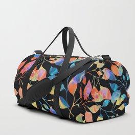 Colored Leaf Pattern Duffle Bag