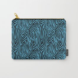 Black and blue abstract pattern. Zebra . Carry-All Pouch