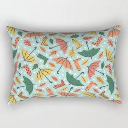 Rainy Fall Day Rectangular Pillow