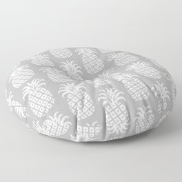 Mid Century Modern Pineapple Pattern Grey Floor Pillow