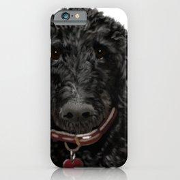 Roxy the black Labradoodle iPhone Case