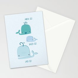 whale family Stationery Cards