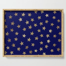 Gold Stars Serving Tray