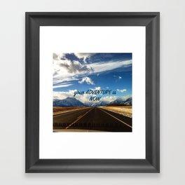 Adventure Now Framed Art Print