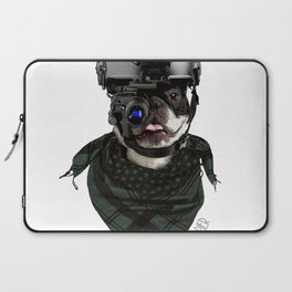 Boston Terrier in Warfare Laptop Sleeve