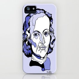 Composer Johann Pachelbel Baroque Violin Artwork Wall Art Canon in D Wedding music Gift for Bride iPhone Case