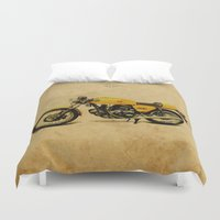 ducati Duvet Covers featuring Ducati 750 GT 1973 by Larsson Stevensem