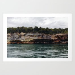 Pictured Rocks I Art Print
