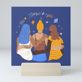 TIME'S UP by Jenny Chang-Rodriguez Mini Art Print