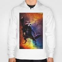 rocket raccoon Hoodies featuring Guardians of the Galaxy series: Rocket Raccoon  by Steal This Art