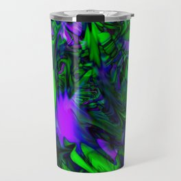 Green purple stained glass Travel Mug