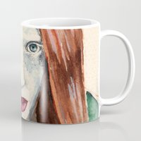 ginger Mugs featuring Ginger by Roxie Emm