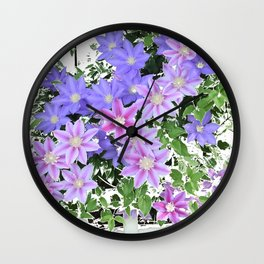 Clematis Multiplied Wall Clock