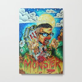 MonsterMash Metal Print