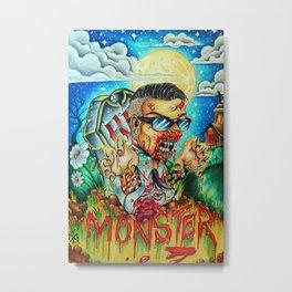 MonsterMash Metal Print