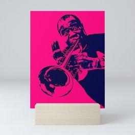 Society6 100 Elements Of Louis - Louie - Daniel Armstrong Satchmo - Satch - Pops - Pop Sketch-Art 66 Mini Art Print