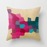 crystals Throw Pillows featuring Crystals by Samantha Ranlet