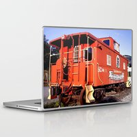 artrave Laptop & iPad Skins featuring Lil Red Caboose -Wellsboro Ave Hurley ArtRave by ArtRaveSuperCenter: Ave Hurley Illustrat
