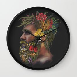 One With Nature  Wall Clock