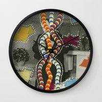 dna Wall Clocks featuring DNA by Naomi Vona
