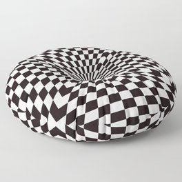 Checkered Optical Illusion Floor Pillow