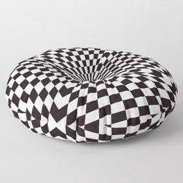 Checkered Optical Illusion Floor Pillow