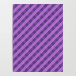 Purple plaid 3 Poster