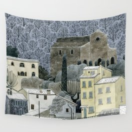 Winter Town Wall Tapestry