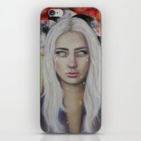 coven iPhone & iPod Skins featuring Blood on the Moon by Bella Harris