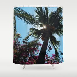 EL SALVADOR PALM TREES Shower Curtain