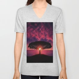 Pacific Coast Highway Amethyst Twilight Sunset Portrait - Jéanpaul Ferro Unisex V-Neck