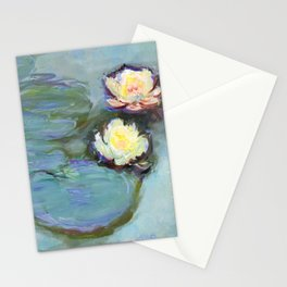 Nympheas (1897–1898) by Claude Monet Stationery Cards