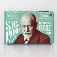 freud iPad Cases featuring Sigmund Knows Best by Astor Alexander