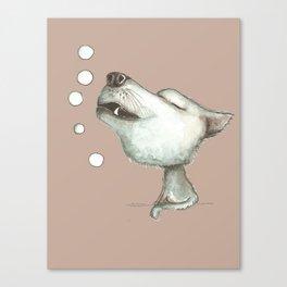 NORDIC ANIMAL - WOLFGANG THE WOLF / ORIGINAL DANISH DESIGN bykazandholly  Canvas Print
