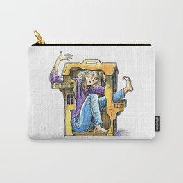 girl inside dollhouse Carry-All Pouch