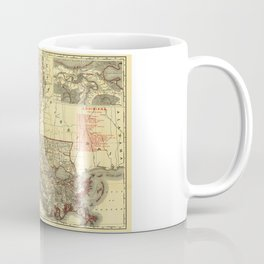 Map of Louisiana (1895) Coffee Mug