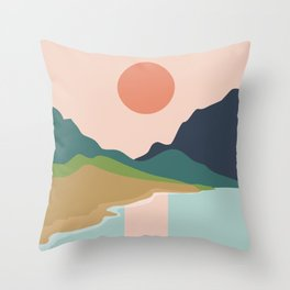 Sun reflection Throw Pillow