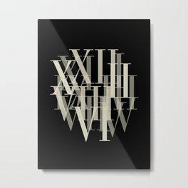 Text Roman Numerals Metal Print