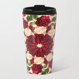 Old Red Rose Kaleidoscope 9 Travel Mug