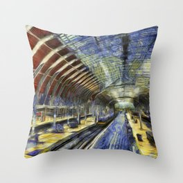 Paddington Railway Station Art Throw Pillow