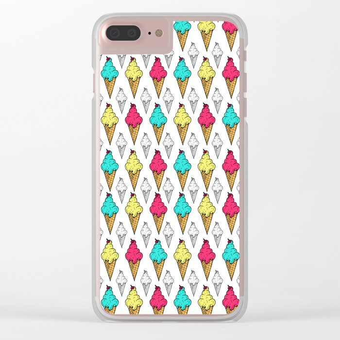 I love ice-cream Clear iPhone Case