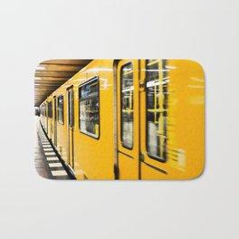 Berlin tube I U-Bahn I Vintage I Yellow colors I Fine art I Photography Bath Mat