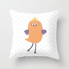 Princess Birdie Throw Pillow