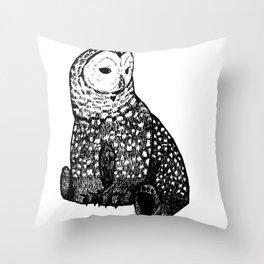 Owl-Bear Throw Pillow