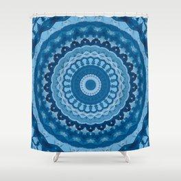 blue mandala 1 Shower Curtain