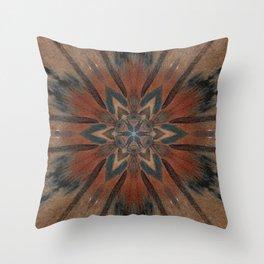 Bushfire Gum Medallion 2 Throw Pillow
