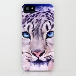 snowy leopard iPhone Case