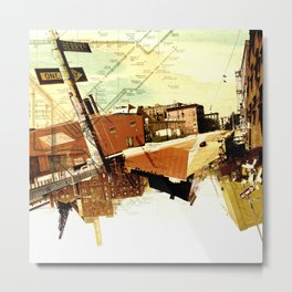 One way to Brooklyn, NY Metal Print