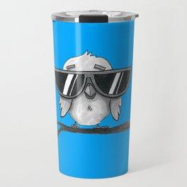 Little Bird Big Glasses Blue Travel Mug