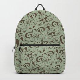 Gigi - Art Deco Geometry Pastel Green Backpack